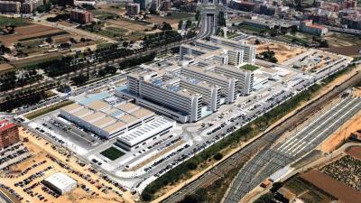 Vista aérea del hospital La Fe de Valencia