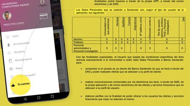 La appCRUE permite al Santander hacerse con datos personales y académicos de alumnos y profesores