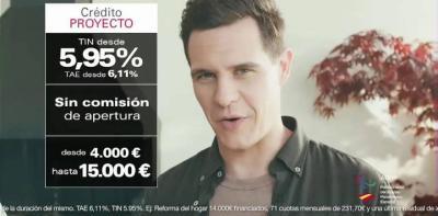 El presentador Christian Gálvez en un anuncio de crédito de Cofidis