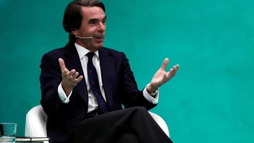 Aznar el negacionista: «No se puede estar amenazando con el apocalipsis todos los días a cuenta del cambio climático»