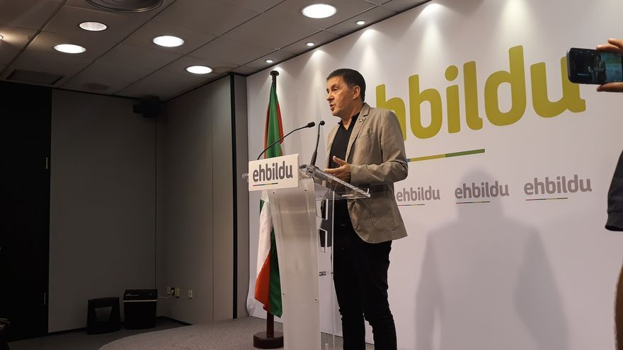 """Otegi (EH Bildu) cree """"brutales"""" las peticiones de cárcel para los líderes independentistas y pide enfrentarse al Estado"""
