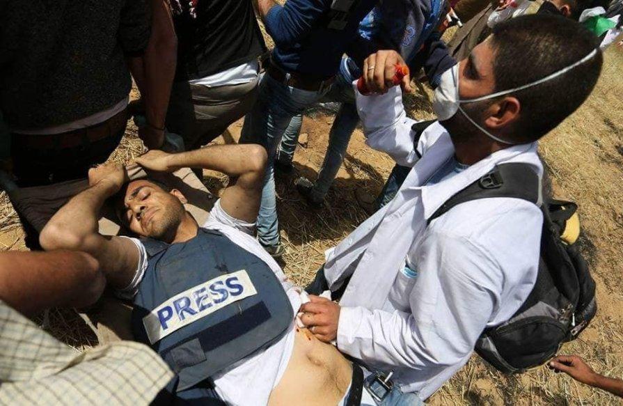 Yaser Murtaja, 30, fue disparado en el estómago. /Egyptian Streets