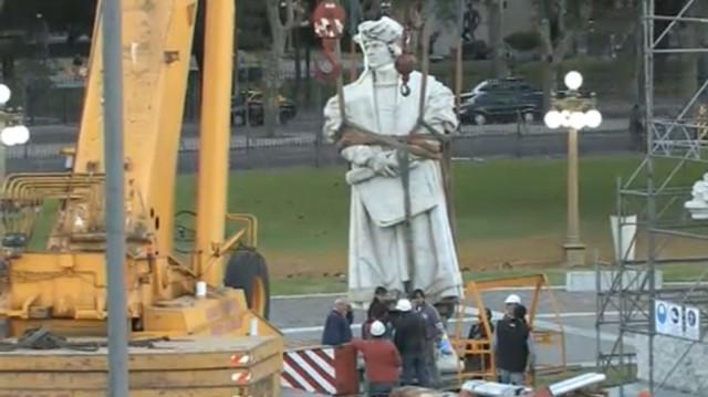 La estatua de Colon no será trasladada