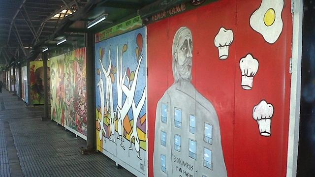 Inauguran murales en la feria del libro