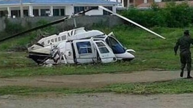 El helicóptero de Correa se cayó y murieron tres personas