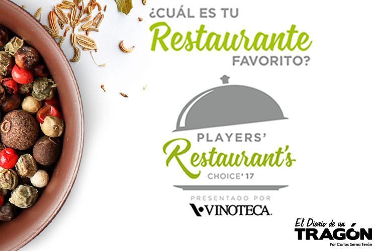 Players Restaurant's Choice 2017