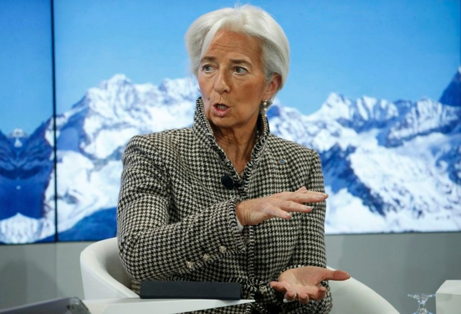 christine lagarde, managing director, international monetary fund (imf) attends the annual meeting of the world economic forum (wef) in davos
