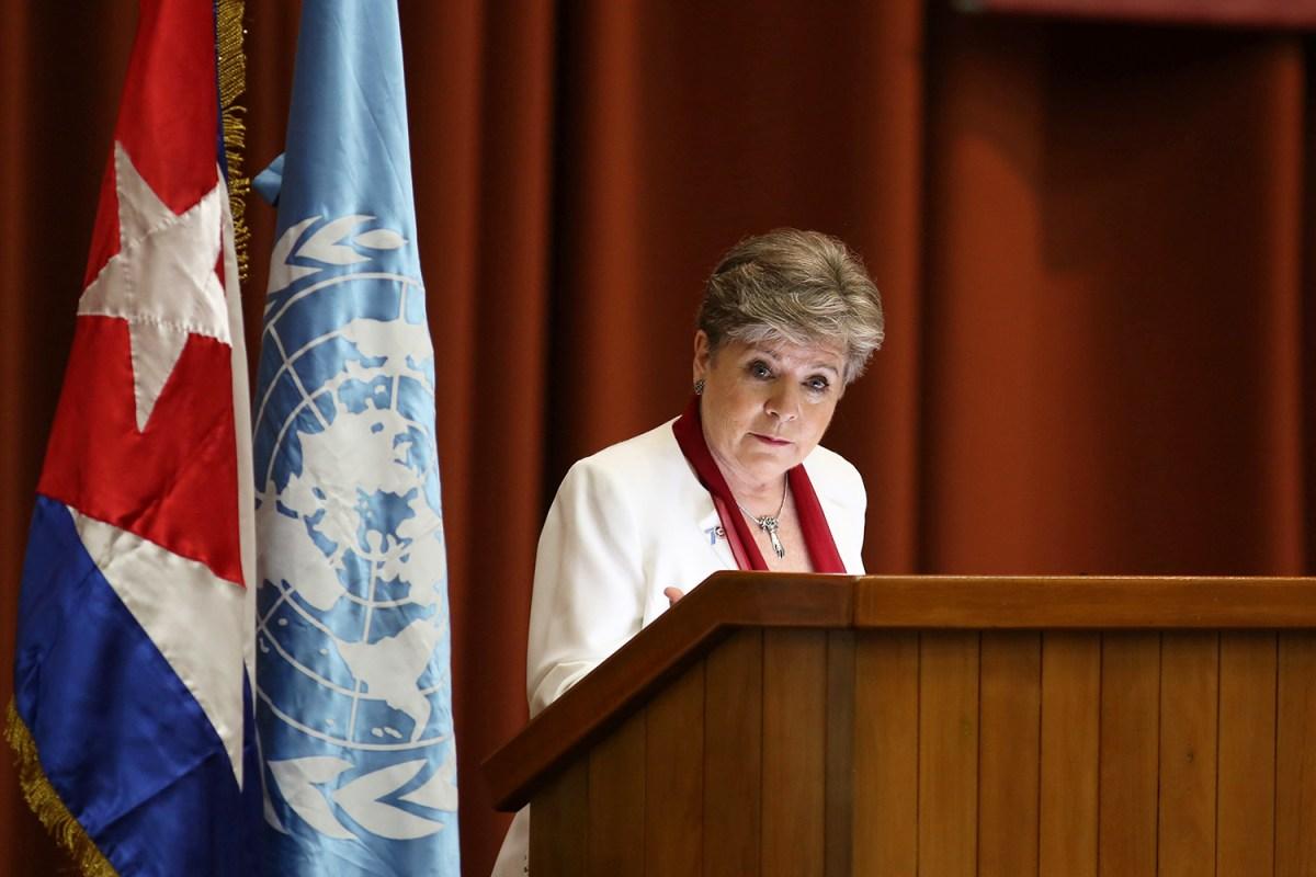 Alicia Bárcena, secretaria ejecutiva de Cepal