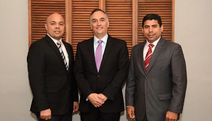 Jairon Severino, Carlos Marranzini y Esteban Delgado.