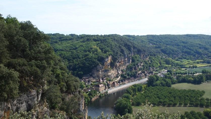 La Roque-Gageac desde los jardines de Marqueyssac