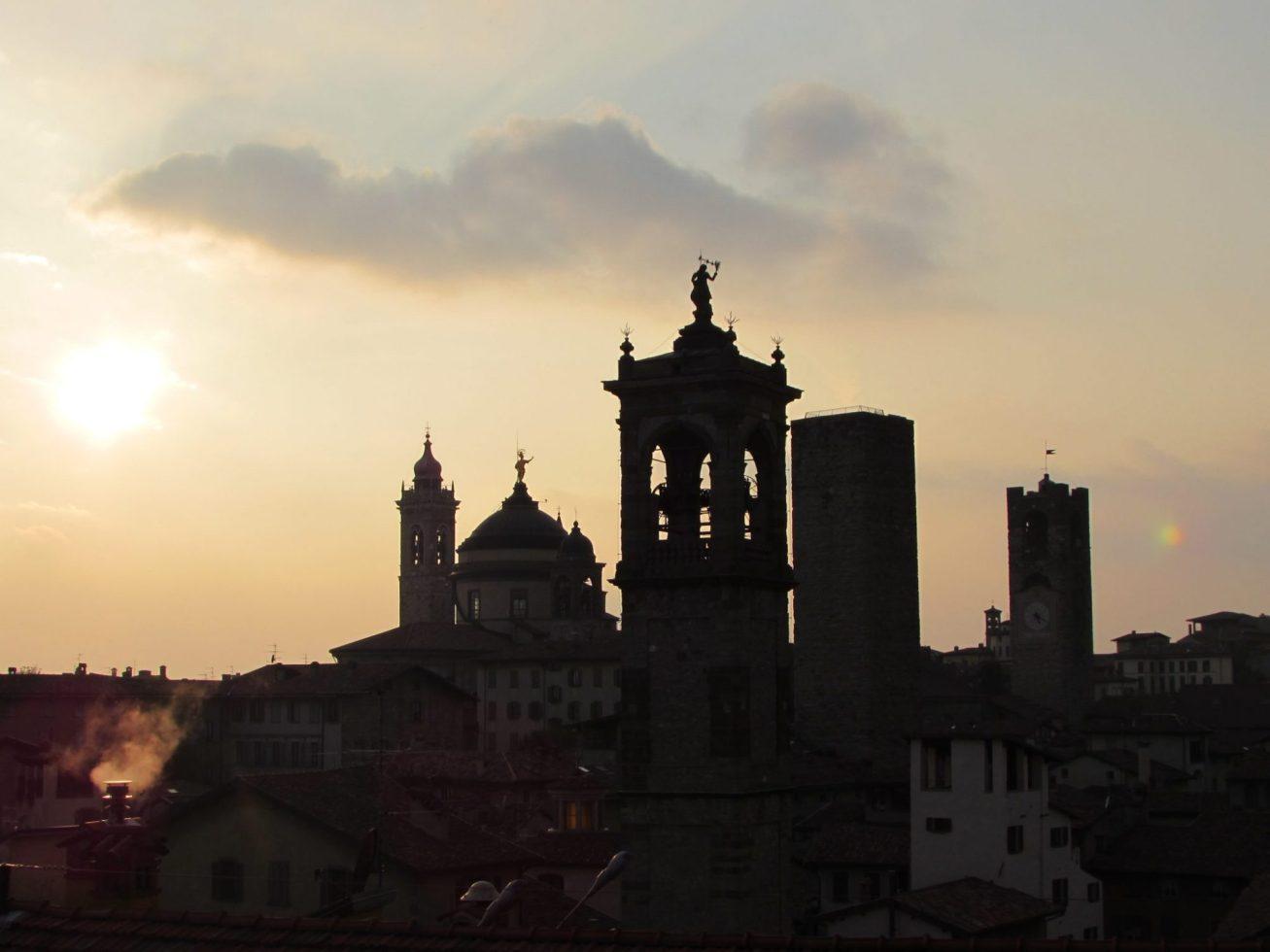 Vistas desde la Rocca di Bergamo