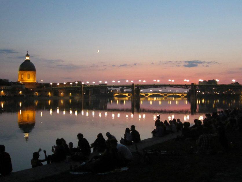 Atardecer río Garona Toulouse