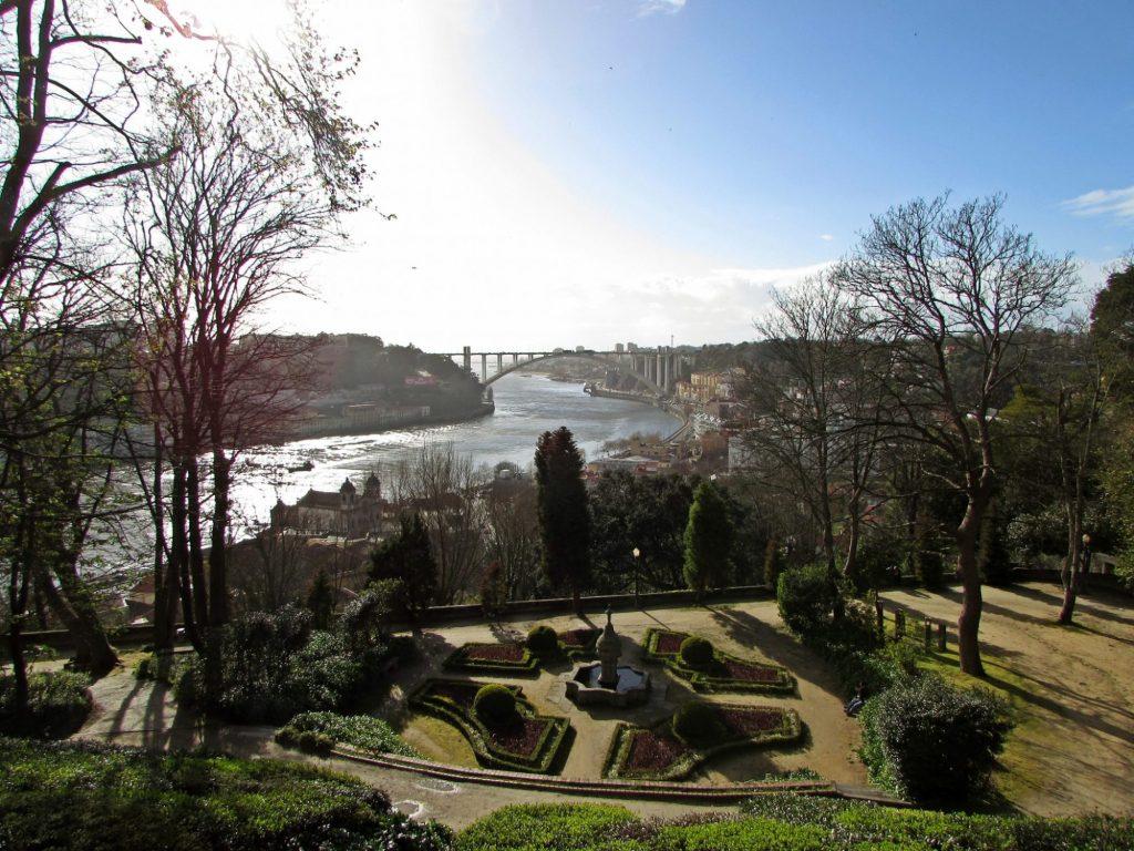 Miradores de Oporto. Jardines del Palacio de Cristal