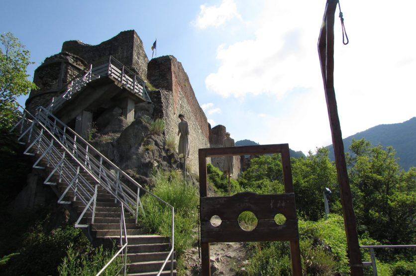 Castillo de Poenari en la Transfagarasan