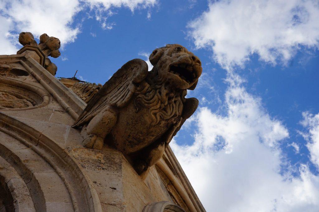Gárgola visible durante la visita a las terrazas de la catedral de Palma