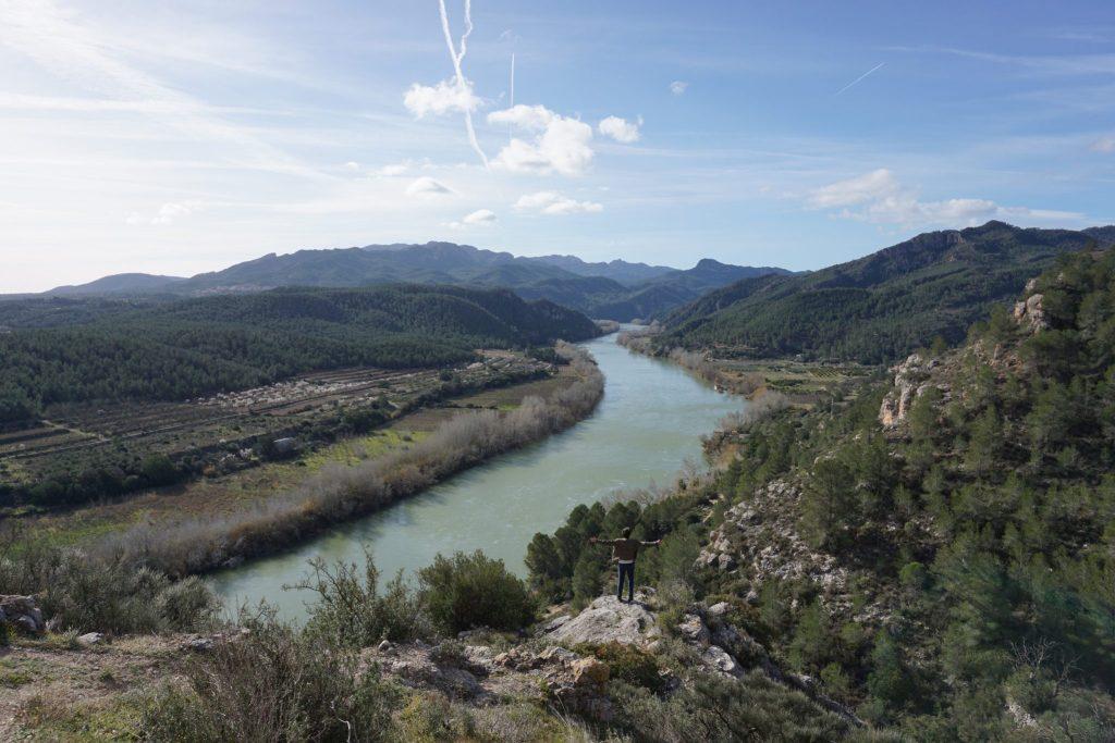 Río Ebro a su paso por Miravet, Tarragona