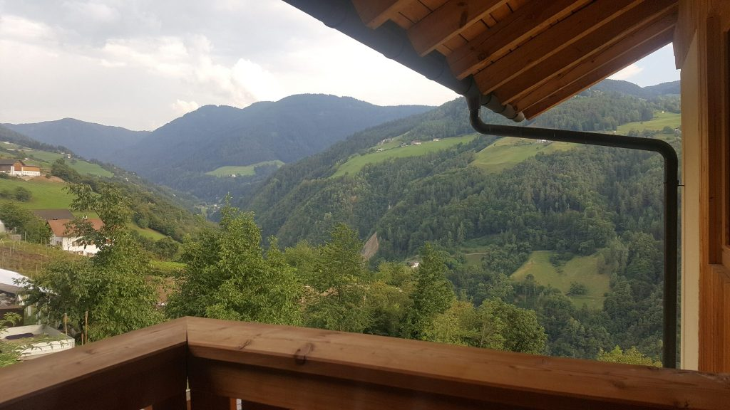 balcón alojamiento dolomitas