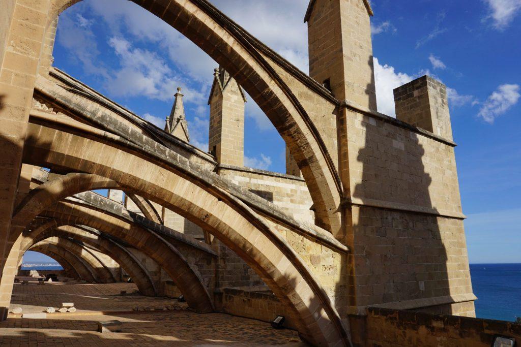 Arcbotantes de la catedral de Mallorca