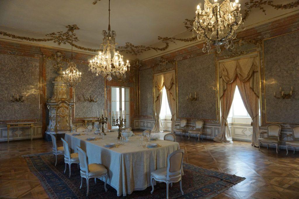 Una de las salas del castillo de Valtice