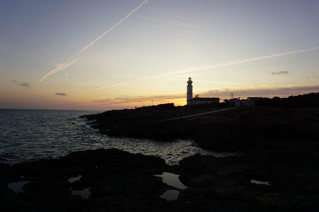 Faro de Ses Salines al atardecer