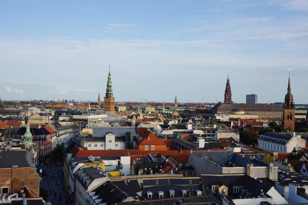 Vistas de Copenhague desde Rundetaarn
