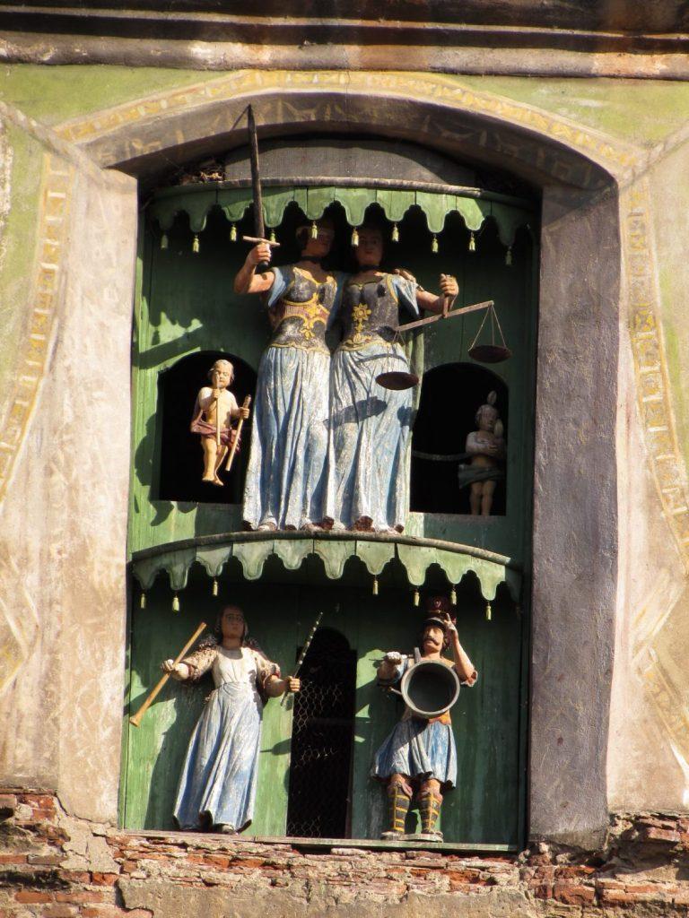 Detalle de la Torre del Reloj en Sighisoara