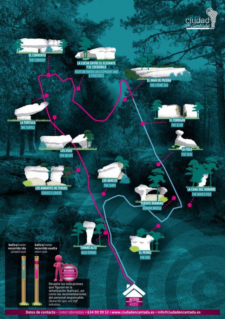 Mapa de la Ciudad Encantada