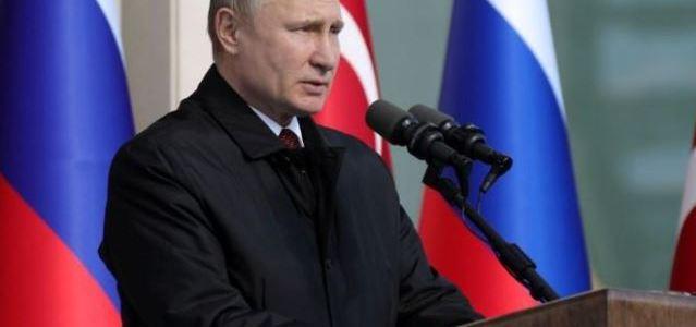 بوتين يهدد بالرد المتكافيء علي العدوان ضد روسيا