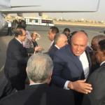 سامح شكري في الخرطوم للمشاركة في اجتماع اللجنة الرباعية بين مصر والسودان