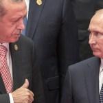 """بوتين يهنئ أردوغان """"بحرارة"""" بعيد ميلاده الخامس والستين"""