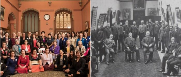 بعد 125 عاماً نائبات نيوزيلنديات يلتقطن صورة تذكارية تستدعي قصة قديمة
