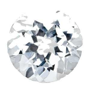 Pierre Précieuse Diamant SI1/SI2Clarté 5,15mm ronde Couleur vrac 0.528G/je et CT