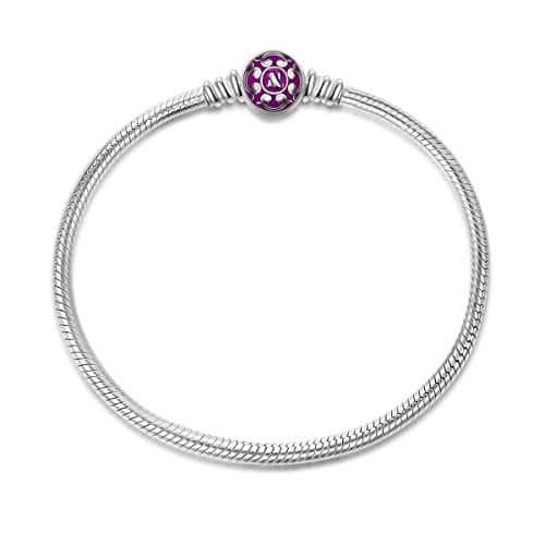 info pour cf2e6 d29c3 NINAQUEEN Charms Bracelet pour femme argent 925 Pourpre ...