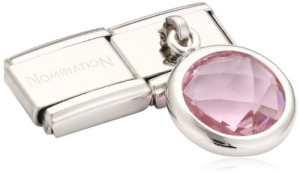 Nomination 031713/003 – Maillon pour bracelet composable Femme – Acier Inoxydable- Oxyde de Zirconium