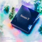 Susan Y Cadeau Noël Croix Bracelet pour Femme avec des Cristaux Swarovski Clair Bijoux pour l'Aniversaire Mariage Valentin Copines Filles Petite Amie Mère Elle