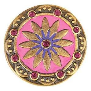 The Good Bead Ginger Snaps Laiton Boho Rose/Violet Sn0685interchangeables Bijoux Snap Accessoire