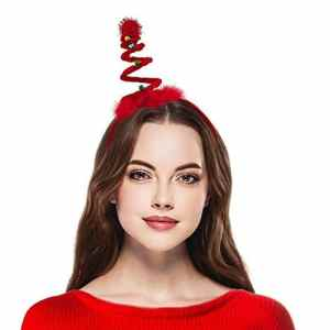 Lux Accessoires Bandeau Tissu Rouge Bobine de Noël Jingle Bell Bandeau