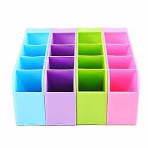 Generic Violet: organiñador de 4compartiments, boîte de stockage pour crayons, stylos, maquillage, sous-vêtements, Couleur Violet