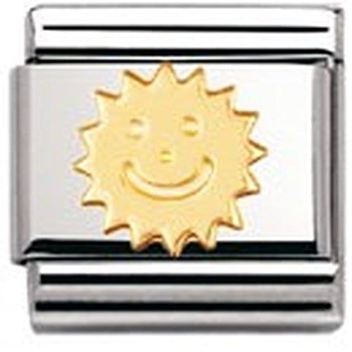 Nomination – 030110 – Maillon pour bracelet composable – Femme – Acier inoxydable et Or jaune 18 cts