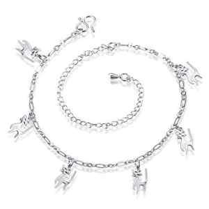 Chaîne de cheville Bracelet avec chat Charms Cheville réglable pour femme