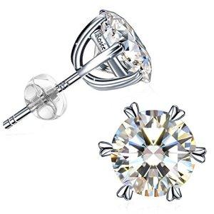 Boucles d'oreilles, J.Rosée Argent 925 Zirconium cubique étincelant Femme/Fille Cadeau parfait»Coeur Brillant»