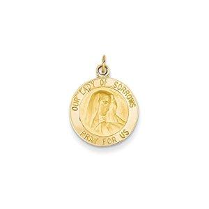 Notre-dame de 14 carats-JewelryWeb Sorrows médaille charme