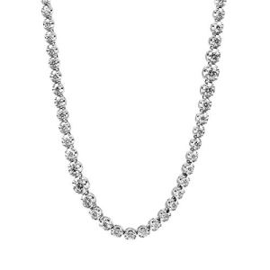 Collier de tennis en or blanc 750 avec 252 brillants 10,76 ct TW-vsi