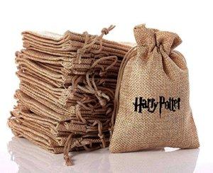XIN-JI Sacs de Cadeau, Excellent thème de Harry Potter Sacs mignons de cadeau, beaux cadeaux, faveurs de partie de mariage, boîte à musique maniable. Sacs cadeaux avec cordon de serrage (10pcs)