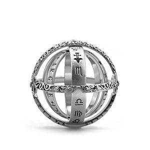 Yuanbbo Bague sphère astronomique, Couple Vintage Bague Bague Collier Pendentif Collier
