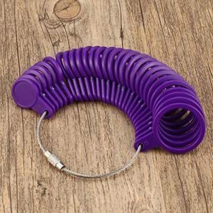 Garciaria Outil de Mesure de Bijoux Outil de Mesure de Base pour Bijoux Taille adaptée à la Taille US 0 à 13 Taille du bijoutier Boucle (Couleur: Violet)