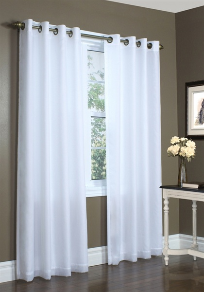 Insulated Sheer Curtain Lined Sheer Panels 100 Polyester Silky European Like Voile Protect