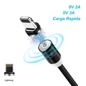 Cable Imán Para Celular Iphone Lightning IOS Carga Rápida Y Datos 3A
