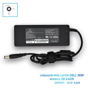 Cargador Laptop Dell Pin Central 90w 19.5v 4.62a 7.4*5.0mm