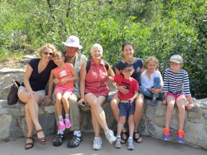My mother, centre, with kids, grandkids and her husband Rick.